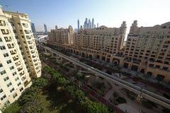 Вид на город Дубай городской красивый Стоковая Фотография RF