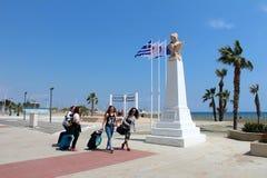 Вид на город Ларнаки, Кипра стоковая фотография rf