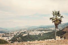 Вид на город Малаги с горами Стоковое Изображение RF