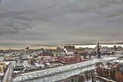 Вид на город Москвы, России Стоковые Изображения RF