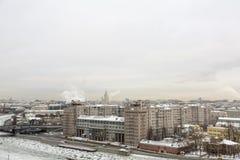 Вид на город Москвы, России Стоковые Изображения
