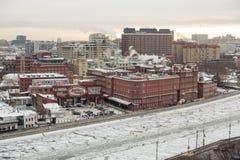 Вид на город Москвы, России Стоковое Изображение