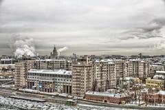 Вид на город Москвы, России Стоковое Изображение RF