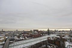 Вид на город Москвы, России Стоковые Фото
