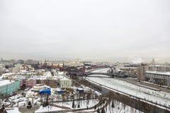 Вид на город Москвы, России Стоковое фото RF