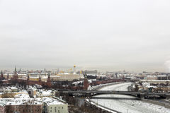 Вид на город Москвы, России Стоковое Фото