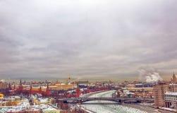 Вид на город Москвы, России Стоковые Фотографии RF