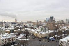 Вид на город Москвы, России Стоковая Фотография
