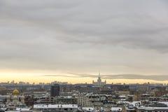 Вид на город Москвы, России Стоковая Фотография RF