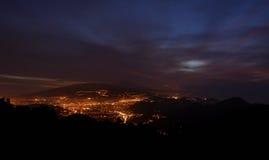 Вид на город на сумраке Стоковая Фотография