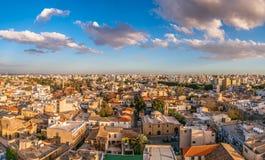Вид на город Никосии старый городок Кипр стоковые фото
