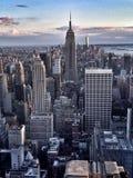 Вид на город Нью-Йорка стоковая фотография