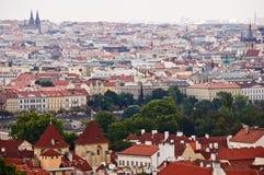 Вид на город осени, от Mala Strana, Прага, чехия. Стоковое фото RF