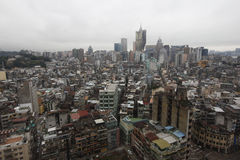 Вид на город от верхней части в Макао Стоковое фото RF