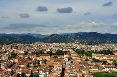 Вид на город от Duomo, Италия Флоренса Стоковая Фотография RF