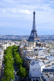 Вид на город Парижа Стоковая Фотография RF