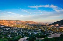 Вид на город - пик епископов - San Luis Obispo, CA Стоковые Фотографии RF