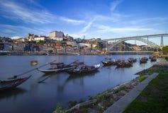 Вид на город Порту стоковые фото