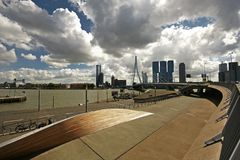 Вид на город Роттердама Стоковая Фотография RF