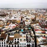 Вид на город Севильи Испании Стоковые Изображения