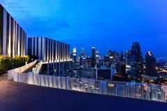 Вид на город Сингапура от Duxton стоковое фото rf