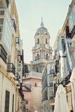 Вид на город с собором Стоковая Фотография
