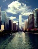 Вид на город Чикаго Стоковая Фотография RF