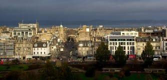 Вид на город Эдинбурга Стоковые Изображения RF
