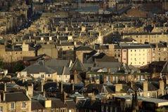 Вид на город Эдинбурга Стоковое Изображение