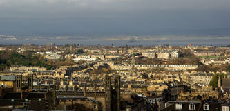 Вид на город Эдинбурга Стоковые Изображения