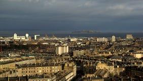 Вид на город Эдинбурга Стоковая Фотография RF