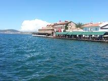 Вид на город Ayvalık Стоковые Изображения
