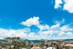 Вид на город Dalat, Вьетнам Стоковые Изображения