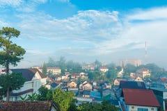 Вид на город Dalat, Вьетнам Стоковые Фотографии RF