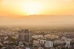 Вид на город Hat Yai Стоковая Фотография