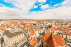 Вид на город Munchen стоковые фото