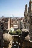 Вид на город Sagrada Familia Ла Стоковые Изображения RF