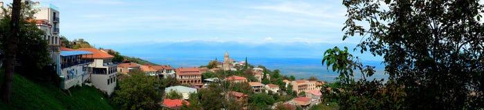Вид на город Signagi Стоковое Фото