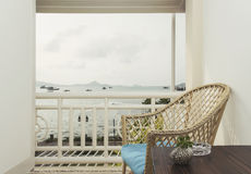 Вид на море балкона Стоковое Изображение RF