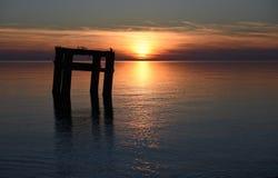 Вид на море вечера Стоковая Фотография
