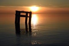 Вид на море вечера Стоковое Изображение RF