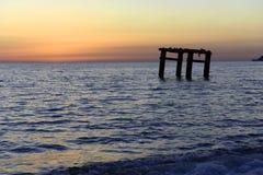 Вид на море вечера Стоковое Изображение
