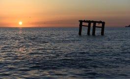 Вид на море вечера Стоковое Фото