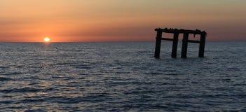 Вид на море вечера Стоковое фото RF
