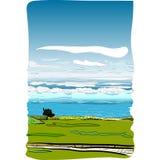 Вид на море в Англии иллюстрация штока