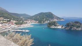 Вид на море в Греции стоковое изображение rf
