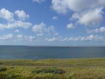 Вид на море в Нидерландах Стоковое фото RF