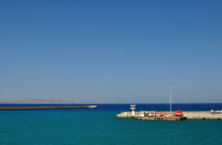 Вид на море в порте ираклиона, Греции Стоковые Изображения RF