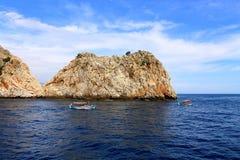 Вид на море в Турции Стоковая Фотография