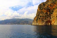 Вид на море в Турции Стоковое Изображение